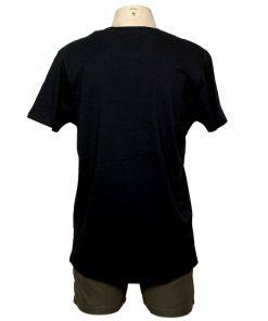 Remera Hombre Negro Algodón OXX-ABSOLUT LDN Atras