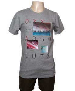 Remera Hombre Gris Algodón OXX-ABSOLUT LUTX