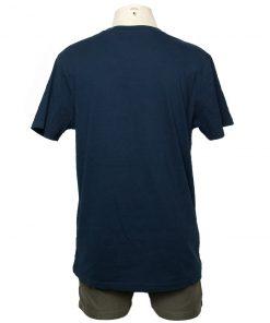Remera Hombre Azul Algodón OXX-ABSOLUT LDN Atras