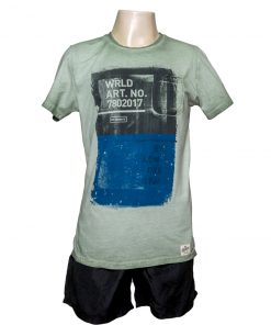 Remera Hombre Verde Algodón OXX-ABSOLUT WRLD