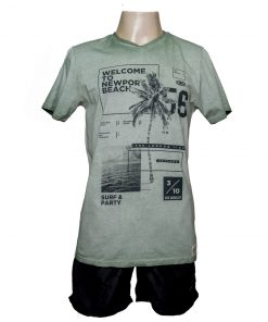 Remera Hombre Verde Algodón OXX-ABSOLUT WELCOME