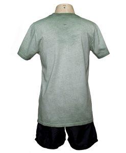 Remera Hombre Verde Algodón OXX-ABSOLUT WELCOME ATRAS