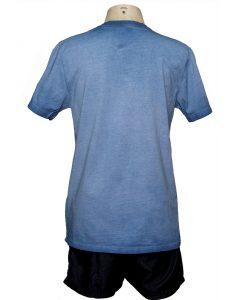 Remera Hombre Azul Algodón OXX-ABSOLUT ROMBO atras