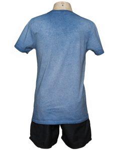 Remera Hombre Azul Algodón OXX-ABSOLUT HARLEM Atras