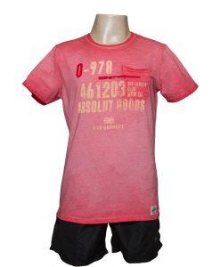 Remera Hombre Rojo Algodón OXX-ABSOLUT 978
