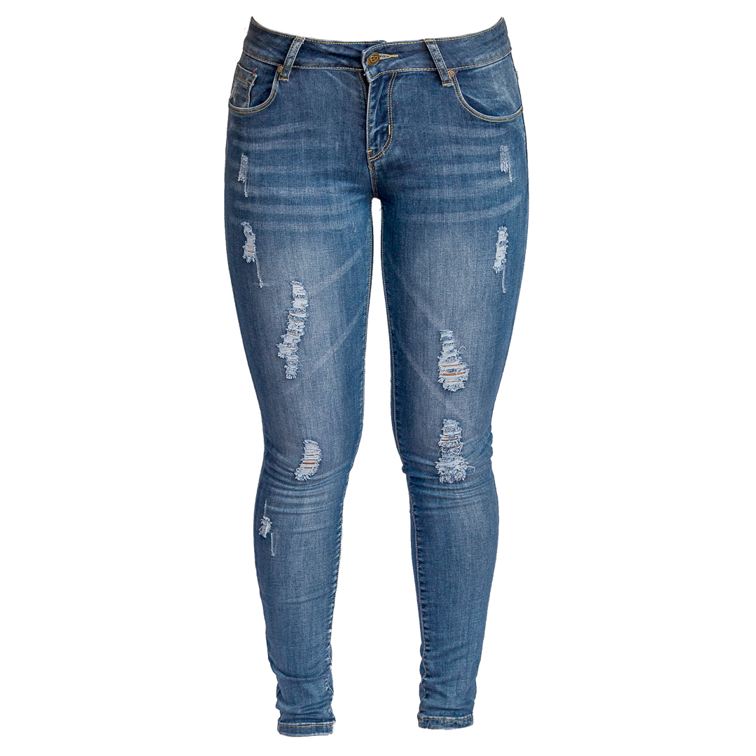 50e853ab0e Jeans Damas Azul SLOWLY Modelo Met Blue - Tienda Chaia