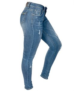 Jeans Damas Azul SLOWLY Modelo Met Blue lateral