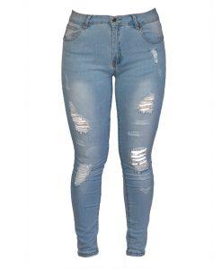 Jeans Damas Celeste SLOWLY Modelo Ligth