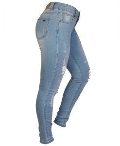 Jeans Damas Celeste SLOWLY Modelo Ligth lateral
