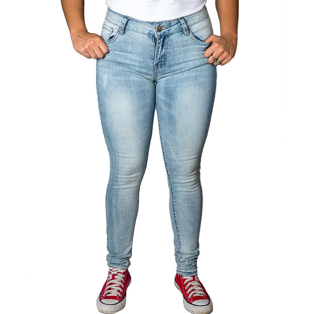 Jeans Damas Celeste SLOWLY Modelo Light Blue II