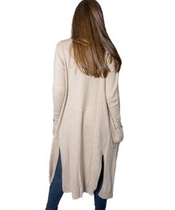 Cardigan Largo Dama Beige SLOWLY CARD-D-8
