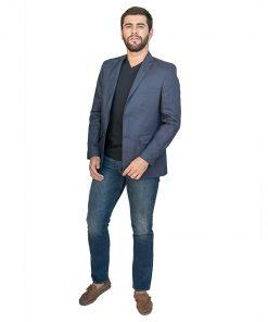 Blazer para Hombres Azul Christian Boreaux