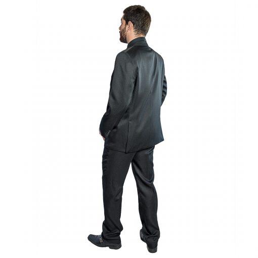 Traje para Hombres color Negro con Rayas Florenzi Modelo TRA-H-2
