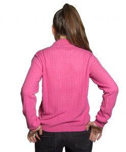 Sweater Dama Burma Rosa Cuello Alto SWE-D-15