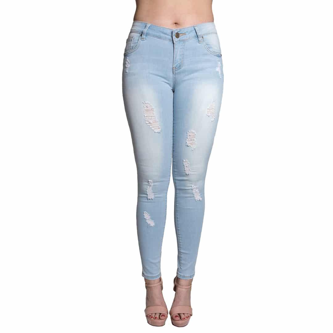 70da365c3e Jeans Damas Slowly Celeste Roto JEA-M-42 - Tienda Chaia