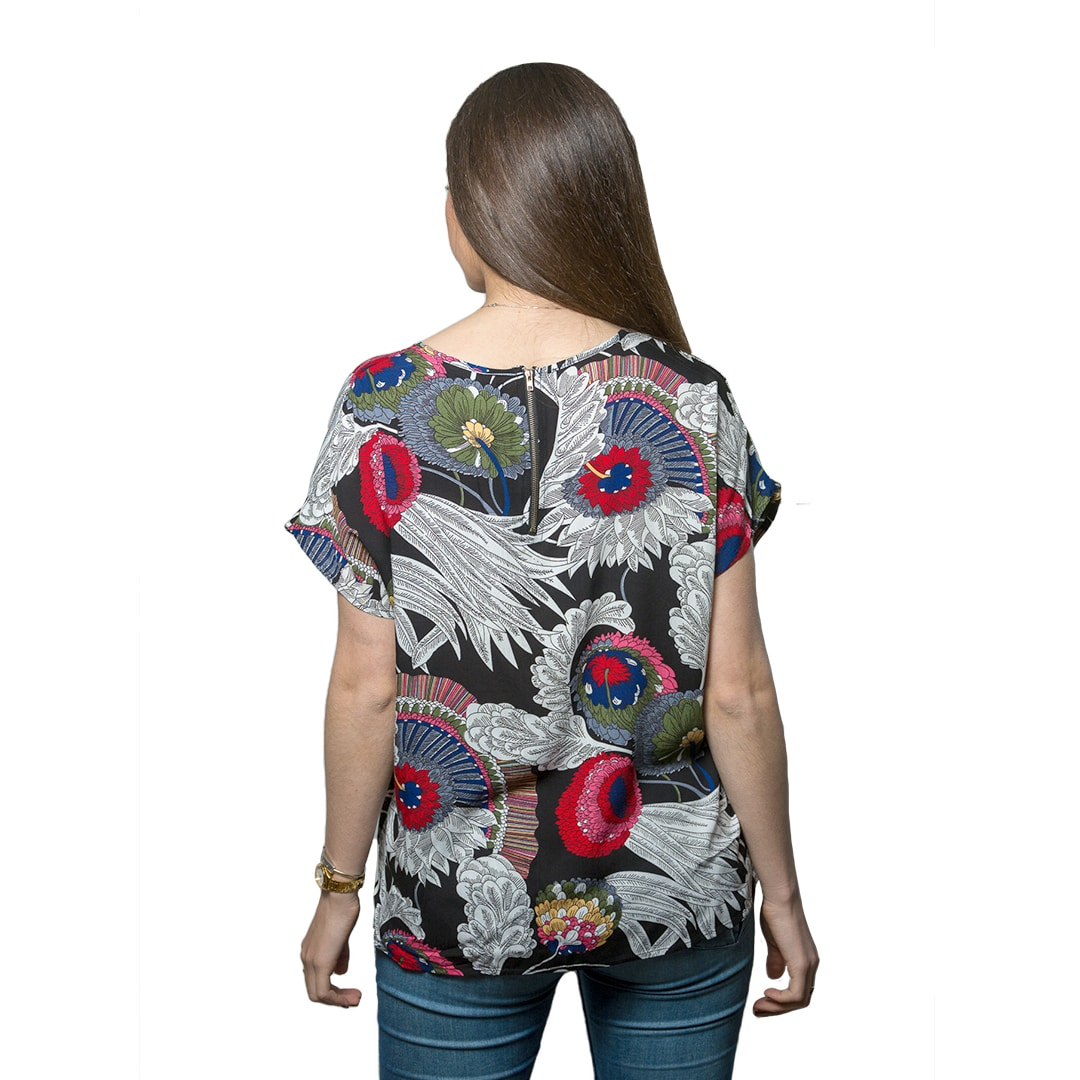 Blusa Dama Gris con Diseños Wanna Slowly BWS-73 - Tienda Chaia c8438050ae9