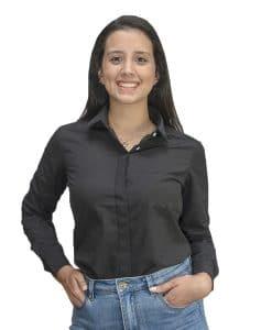 Camisa Dama Negro con Detalles Wanna Slowly BWS-102 ... 7ed08ac0d7a
