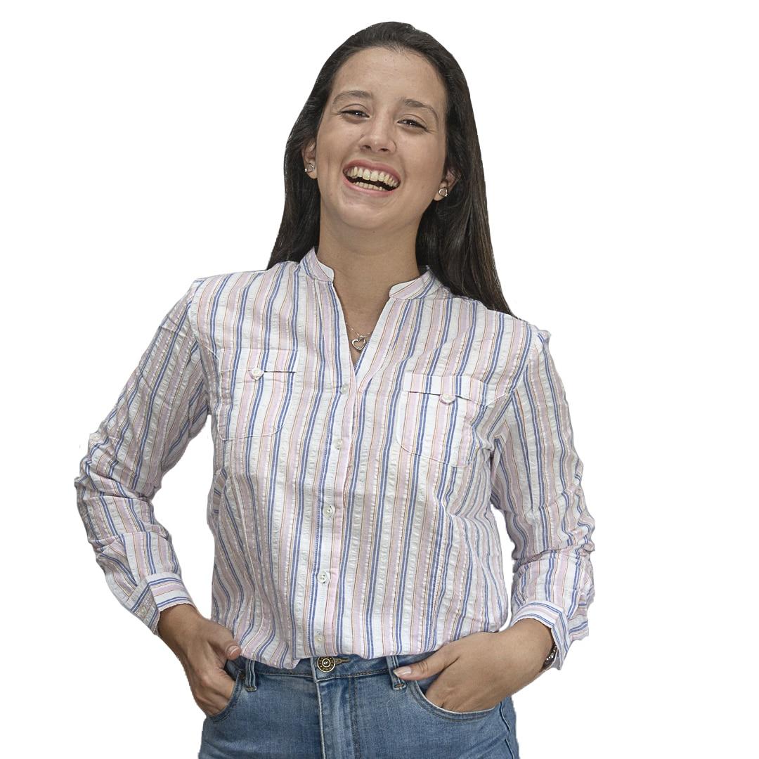 Camisa Dama Rosa a Rayas Wanna Slowly BWS-104 - Tienda Chaia c6e27c991a6