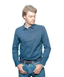Camisa Hombre Azul con Detalles Oxx-Absolut CAM-H-58