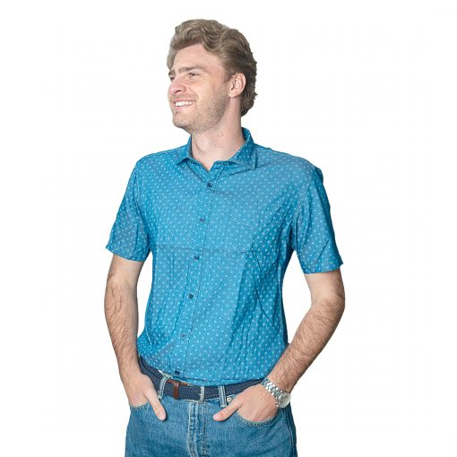 Camisa Hombre Azul con Detalles Oxx-Absolut CAM-H-98