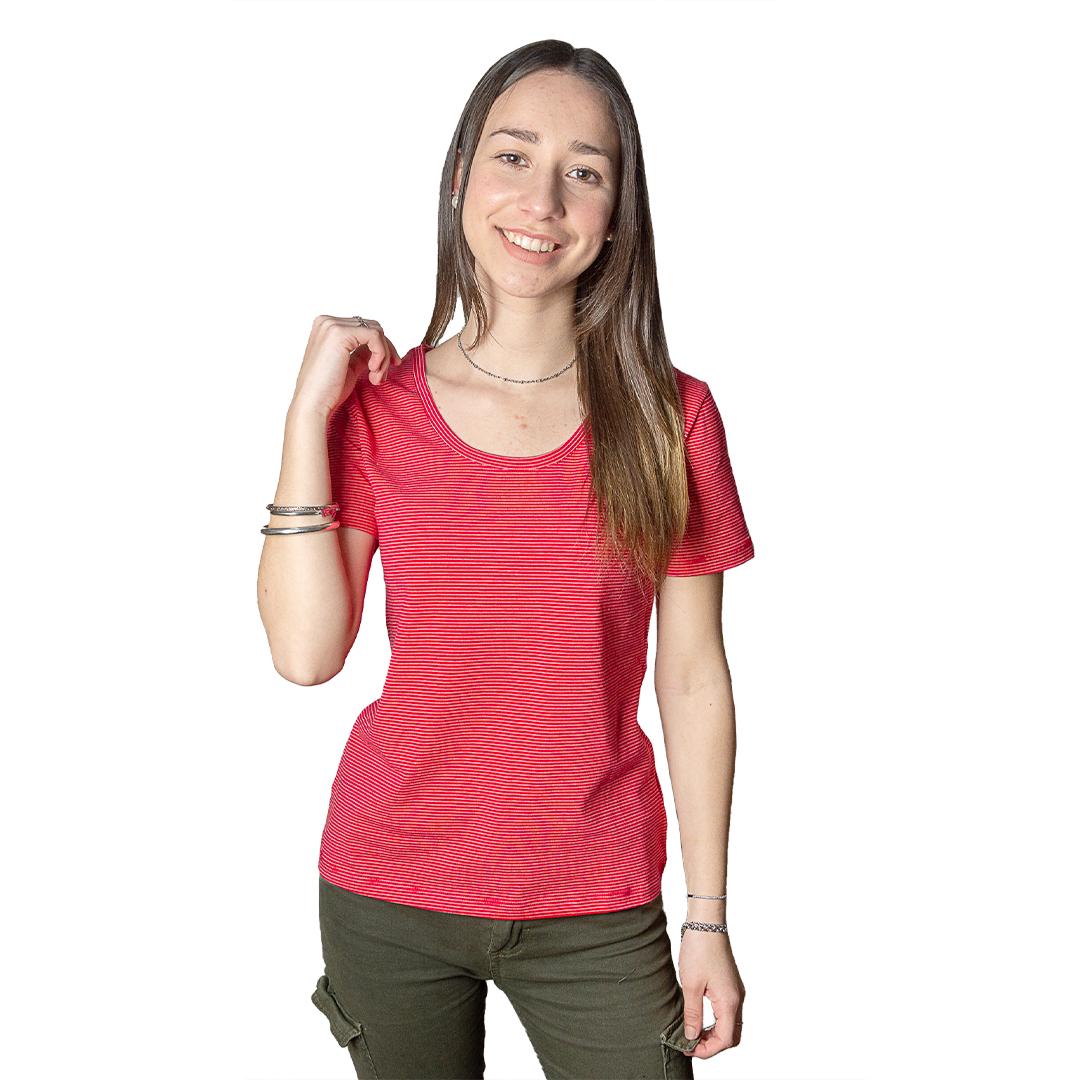 Blusa Dama Rojo a Rayas Wanna BWS-209