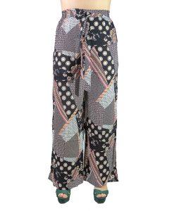Pantalón Dama Gris con Lunares PAN-D19