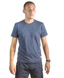 T-Shirt Hombre Azul Marino con Detalles Legacy RHU-140