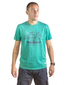 T-Shirt Hombre Verde con Detalles Legacy RHU-142