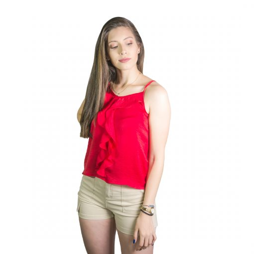 Musculosa Dama Rojo con Detalle Wanna REM-D-31