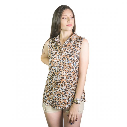 Musculosa Dama Marrón Atigrada Wanna REM-D-33
