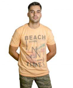 T-Shirt Hombre Naranja Seven RHU-185