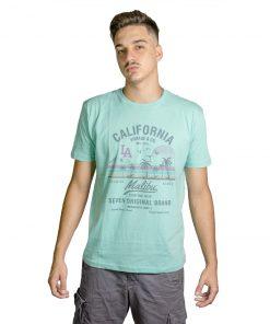 T-Shirt Hombre Verde Claro Seven RHU-186