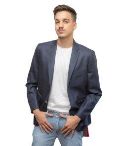 Blazer para Hombres Azul Marino c/Coderas Christian Bordeaux