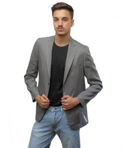 Blazer para Hombres Gris Christian Bordeaux BLE-H-13