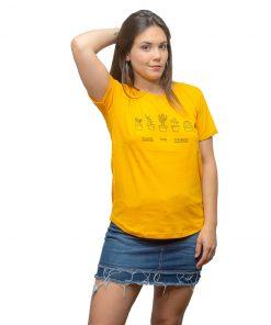 T-Shirt Dama Wanna Amarillo RHU-203