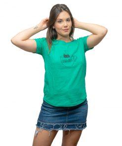 T-Shirt Dama Wanna Verde RHU-204