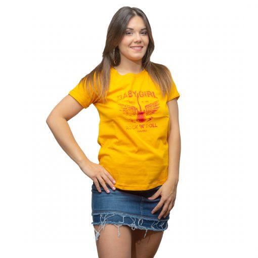 T-Shirt Dama Wanna Amarillo RHU-205