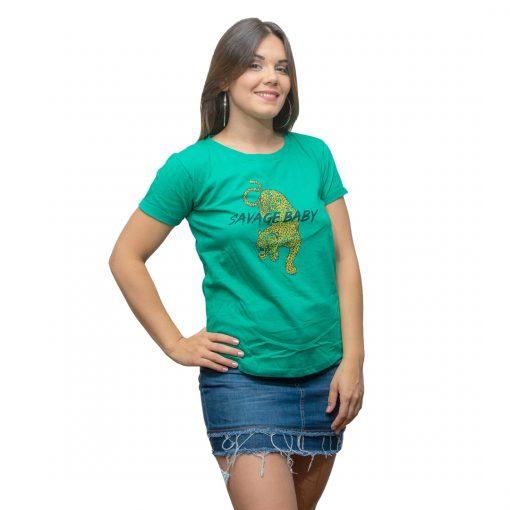 T-Shirt Dama Wanna Verde RHU-208