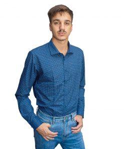 Camisa Hombre Azul con Lunares Oxx-Absolut CAM-H-107
