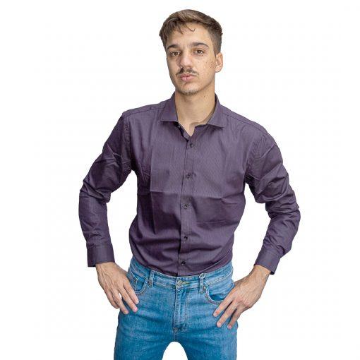 Camisa Hombre Violeta Halogen CAM-H-114