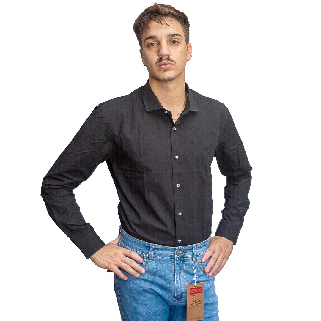 Camisa Hombre Negro Halogen CAM-H-116