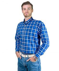 Camisa Hombre Azul a Cuadros Legacy CAM-H-120