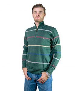 Buzo Hombre Medio Cierre Verdea Rayas BHL-38