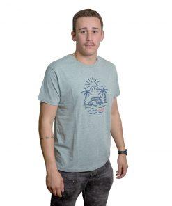 T-Shirt Hombre Verde Claro Estampado Legacy RHU-221