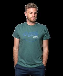 T-Shirt Hombre Verde Estampado Legacy RHU-246