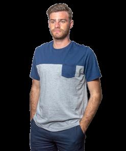 T-Shirt Hombre Azul Legacy RHU-247