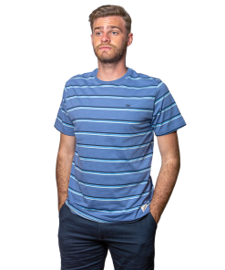 T-Shirt Hombre Azul a Rayas Legacy RHU-250