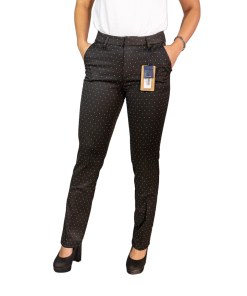Pantalón Dama Gabardina Negro con Lunares Legacy PAN-D-7