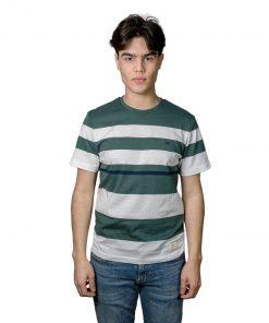 T-Shirt Hombre Verde a Rayas Legacy RHU-263