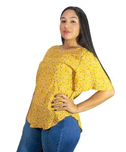 Blusa Dama Amarillo Estampado Wanna BWS-286